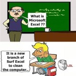 Pappu In Computer Exam – Funny Cartoon Photo