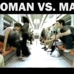 Funny Video of Women vs Man Moment in Metro
