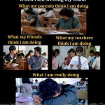 Student in during exam | Funny Pics of Student