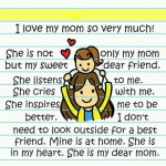 I love you my mom so very much ! Short poem for Mom