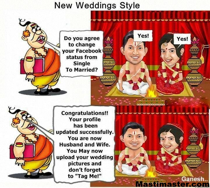 New Marriage Style - Wedding Funny Photo for Facebook