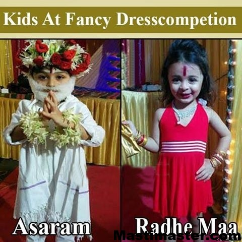 indian-baby-funny-photo-best-fancy-dress-costumes-winner-junior-asaram-and-radhe-maa