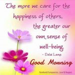 The more we care for the – Good Morning Photo