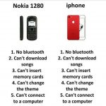 Nokia Vs Iphone – Funny Photo for WhatsApp
