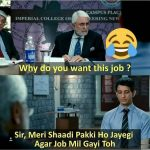Why do you want this job – Funny Photo for WhatsApp