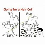 Going for Hair Cut – Funny Cartoon Pic