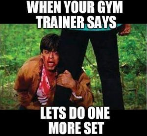 When your trainer – Funny GYM Pic