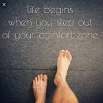 Life Begins When You step out – English quote for life