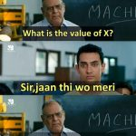 What is the Value of X – Funny Photo for WhatsApp