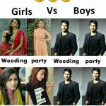 Girsl vs Boys Funny Photo for Facebook