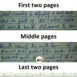 My handwriting in Exams – Funny Photo