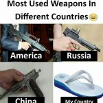 Most Used Weapons – Funny Photo for WhatsApp