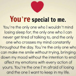You are special to me – Love Quotes for WhatsApp