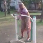 Very Funny Whatsapp Video Of Old Lady Rides On a Swing