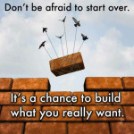 Don't be afraid to start over – Life Inspirational Quotes
