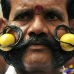 Funny Mustache Images of Indian People