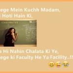 College Mein Kuchh Madam Eshi Hoti Hain Ki | Funny Image of collage