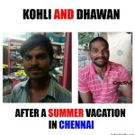Funny image of Kohli and Dhawan | Funny cricketer Picture