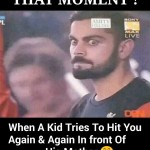 That Moment – Virat Kohli Funny Pictures