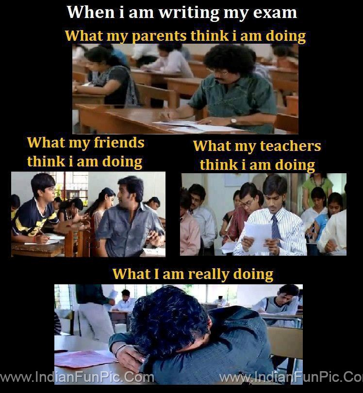 Student In During Exam Funny Pics Of Student Masti Master