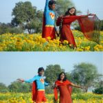 Funny Superman Of India – Indian Couple Funny photo