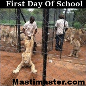 First Day Of School - Funny Animal Pic