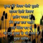Hindi : Good Morning Image