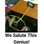 We Salute This Genius – Funny Photo for WhatsApp