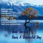 Don't Compare your Self – Good Morning quote