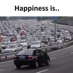Happiness is – Funny Traffic Photo