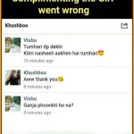 Complimenting the girl went wrong – WhatsApp Funny Pic
