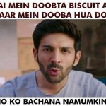 Funny Meme for Instagram – Kartik Aaryan Funny Photo