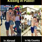 Kissing in Public – Funny Photo for Facebook